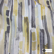Maurice Kain Griffith 139cm - Ochre  | Curtain Fabric - Gold, Yellow, Contemporary, Stripe, Uncoated, Natural, Pattern, Natural Fibre, Standard Width