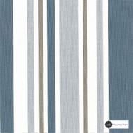 Maurice Kain Jackson 137cm - Sky  | Curtain Fabric - Blue, Stripe, Uncoated, Natural, Natural Fibre, Standard Width