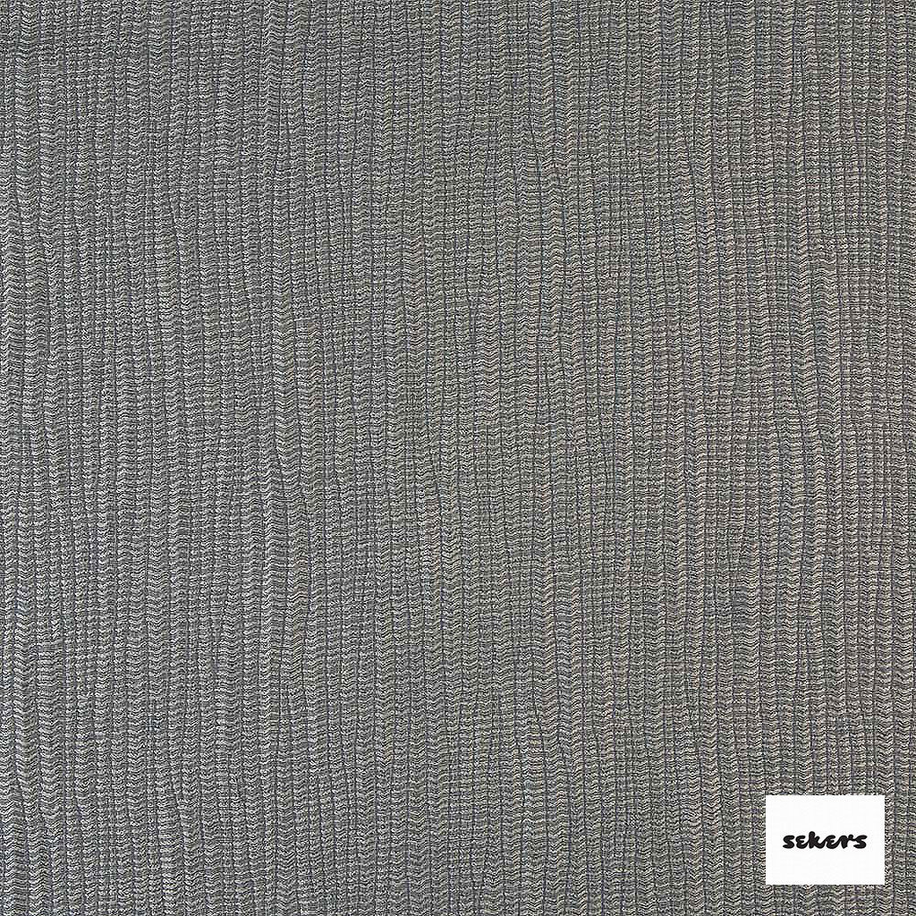 Sekers Jove 136cm - Smoke  | Curtain Fabric - Black, Charcoal, Stripe, Uncoated, Fibre Blend, Standard Width