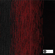 Maurice Kain Latitude 300cm - Ember  | Curtain Fabric - Red, Stripe, Uncoated, Wide-Width