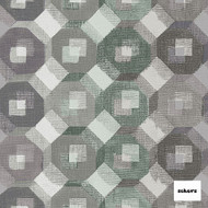 Sekers Matrix 292cm - Seafoam  | Curtain Fabric - Fire Retardant, Green, Diamond, Harlequin, Uncoated, Wide-Width, Geometric, Honeycomb, Fibre Blend