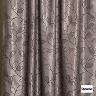 Resene Metaphor 136cm - Charcoal  | Curtain Fabric - Brown, Floral, Garden, Botantical, Uncoated, Pattern, Standard Width