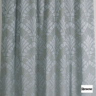 Resene Paradise 140cm - Foam  | Curtain Fabric - Green, Art Deco, Floral, Garden, Botantical, Uncoated, Pattern, Fibre Blend, Standard Width