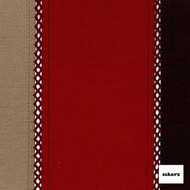 Sekers Pizazz 140cm - Rosso  | Curtain Fabric - Red, Contemporary, Stripe, Uncoated, Standard Width