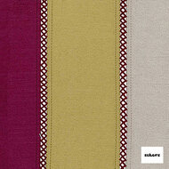 Sekers Pizazz 140cm - Sorbet  | Curtain Fabric - Burgundy, Gold, Yellow, Red, Contemporary, Stripe, Uncoated, Standard Width