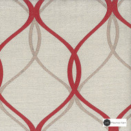 Maurice Kain Preakness 140cm - Ruby  | Curtain Fabric - Red, Mediterranean, Uncoated, Geometric, Organic, Standard Width