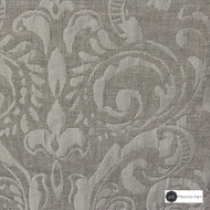 Maurice Kain Sicily 137cm - Mist  | Curtain Fabric - Tan, Taupe, Traditional, Uncoated, Damask, Scroll, Pattern, Fibre Blend, Standard Width