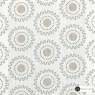 Maurice Kain Southaven 137cm - Mineral  | Curtain Fabric - Green, Tan, Taupe, Floral, Garden, Botantical, Uncoated, Geometric, Circles, Natural