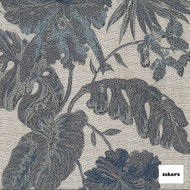 Sekers St Regis 140cm - Delft  | Curtain Fabric - Tan, Taupe, Contemporary, Floral, Garden, Botantical, Uncoated, Tropical, Standard Width