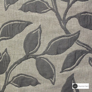 Maurice Kain Syracuse 137cm - Charcoal  | Curtain Fabric - Black, Charcoal, Contemporary, Floral, Garden, Botantical, Uncoated, Pattern, Fibre Blend
