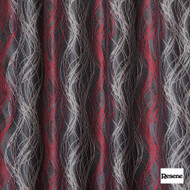 Resene Tease 137cm - Flame  | Curtain Fabric - Red, Stripe, Uncoated, Standard Width