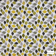 Maurice Kain Tennessee 138cm - Citrus    Curtain Fabric - Gold, Yellow, Green, Contemporary, Floral, Garden, Botantical, Uncoated, Natural, Pattern