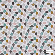 Maurice Kain Tennessee 138cm - Marshmallow  | Curtain Fabric - Green, Contemporary, Floral, Garden, Botantical, Uncoated, Natural, Pattern, Print
