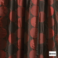 Resene Turntable 141cm - Merlot  | Curtain Fabric - Orange, Uncoated, Geometric, Circles, Standard Width