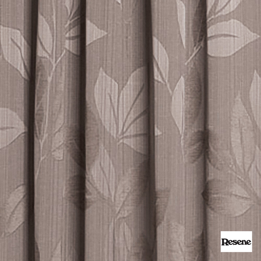 Resene Wildlife 140cm - Savannah  | Curtain Fabric - Brown, Contemporary, Floral, Garden, Botantical, Uncoated, Pattern, Fibre Blend, Standard Width