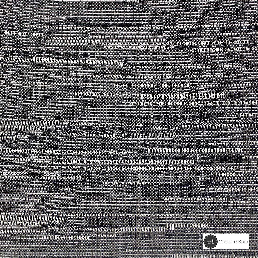 Maurice Kain Willow 145cm - Coven  | Curtain Fabric - Black, Charcoal, Uncoated, Plain, Fibre Blend, Standard Width