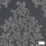 Maurice Kain Wimbledon 137cm - Charcoal  | Curtain Fabric - Black, Charcoal, Floral, Garden, Botantical, Traditional, Blockout, Blackout, Jacobean