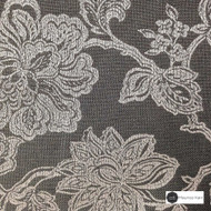 Maurice Kain Windermere 137cm - Charcoal    Curtain Fabric - Black, Charcoal, Brown, Floral, Garden, Botantical, Traditional, Blockout, Blackout