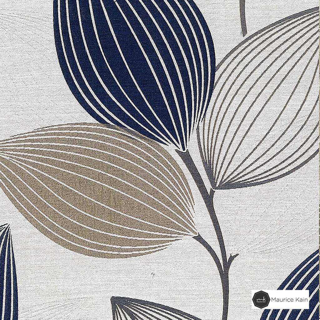 Maurice Kain Woodlands 137cm - Breeze  | Curtain Fabric - Tan, Taupe, Contemporary, Floral, Garden, Botantical, Uncoated, Pattern, Standard Width