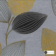 Maurice Kain Woodlands 137cm - Petra  | Curtain Fabric - Gold, Yellow, Grey, Contemporary, Floral, Garden, Botantical, Uncoated, Pattern