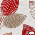 Maurice Kain Woodlands 137cm - Ruby  | Curtain Fabric - Red, Contemporary, Floral, Garden, Botantical, Uncoated, Pattern, Standard Width