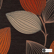 Maurice Kain Woodlands 137cm - Twist  | Curtain Fabric - Brown, Orange, Contemporary, Floral, Garden, Botantical, Uncoated, Pattern, Standard Width