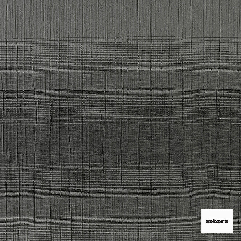 Sekers Zelos 140cm - Gunmetal  | Curtain Fabric - Black, Charcoal, Contemporary, Stripe, Uncoated, Fibre Blend, Standard Width