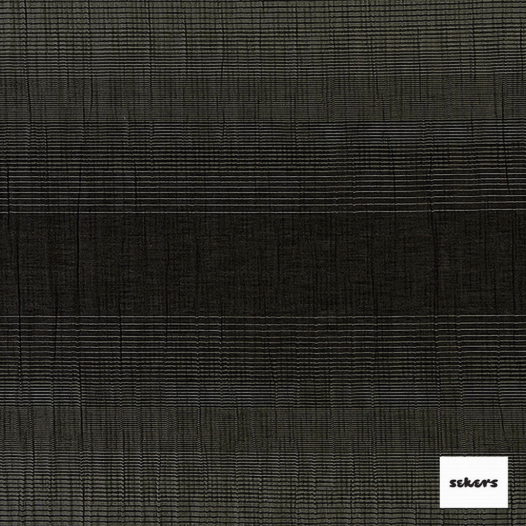Sekers Zelos 140cm - Midnight  | Curtain Fabric - Black, Charcoal, Contemporary, Stripe, Uncoated, Fibre Blend, Standard Width