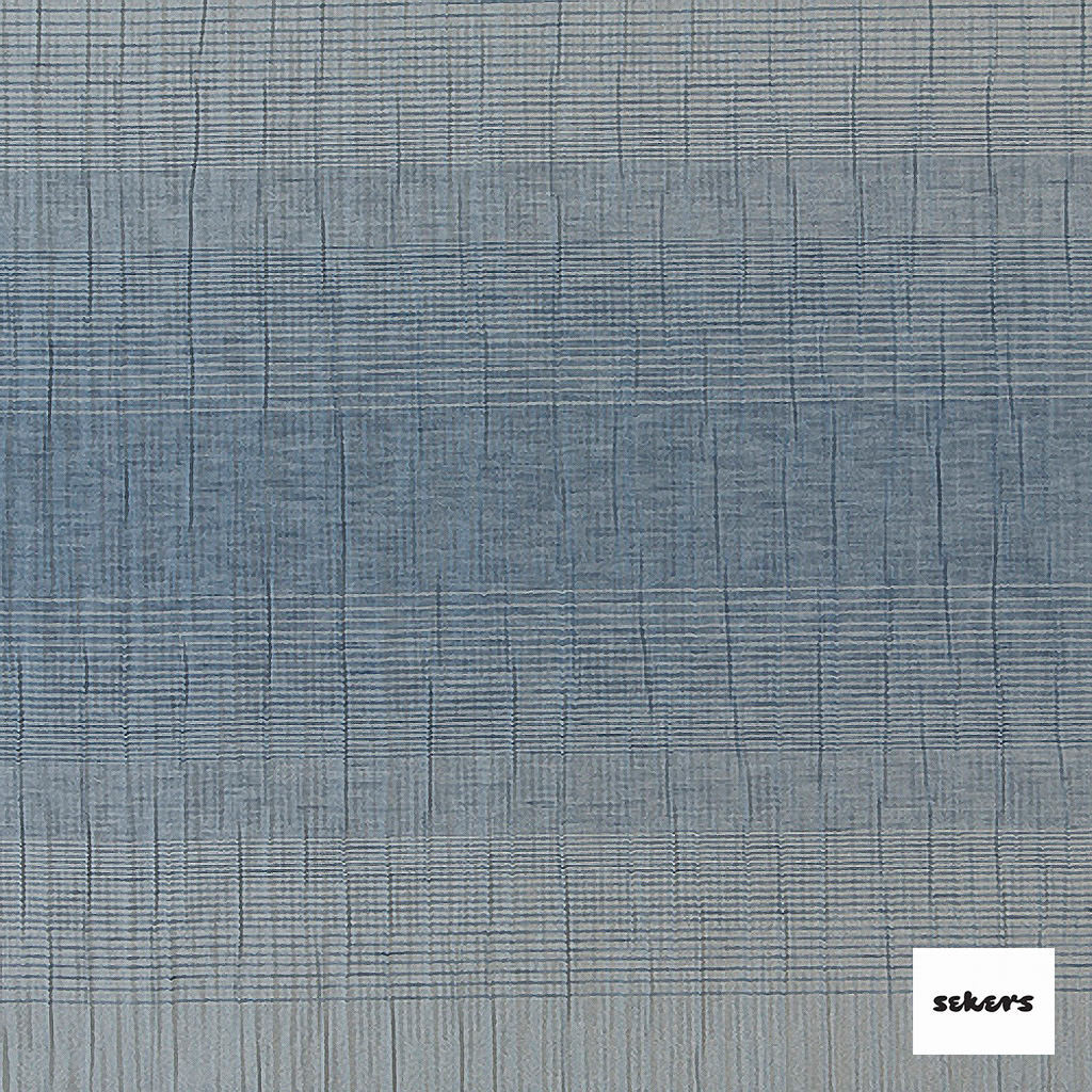 Sekers Zelos 140cm - Sky  | Curtain Fabric - Blue, Contemporary, Stripe, Uncoated, Fibre Blend, Standard Width