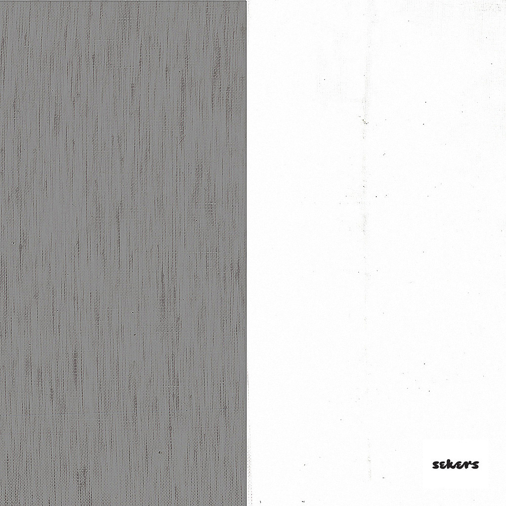 Sekers Zephyr 300cm - Ash  | Curtain Sheer Fabric - Black, Charcoal, Contemporary, Stripe, Wide-Width, Natural, Natural Fibre