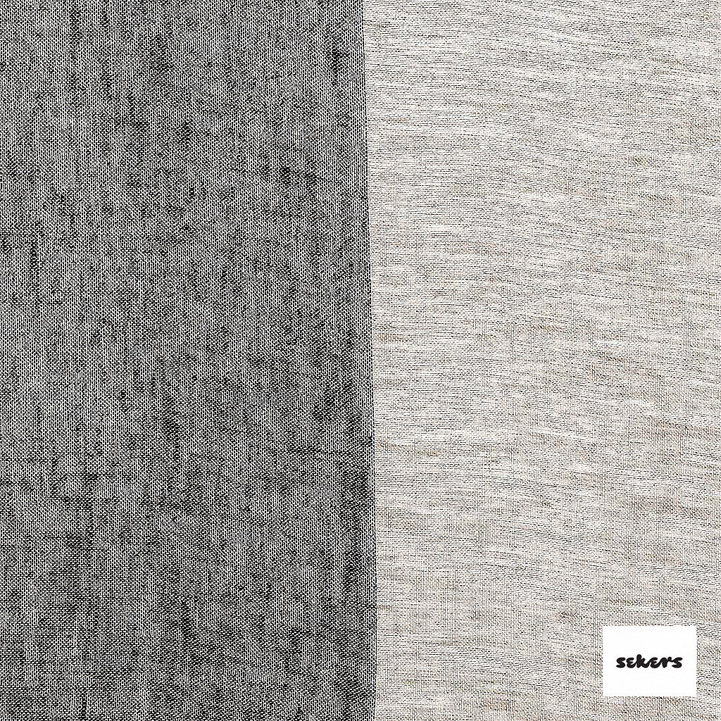 Sekers Zephyr 300cm - Charcoal  | Curtain Sheer Fabric - Black, Charcoal, Contemporary, Stripe, Wide-Width, Natural, Natural Fibre