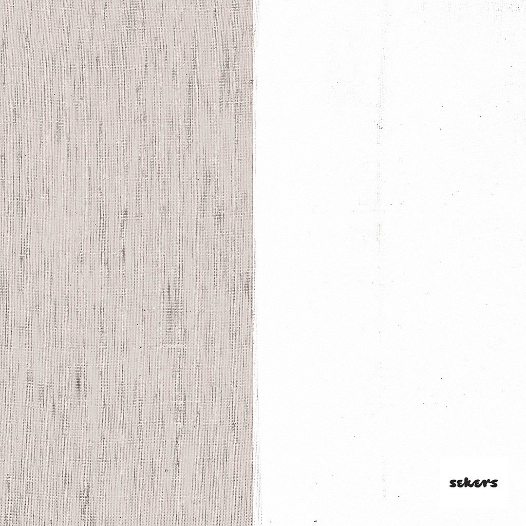 Sekers Zephyr 300cm - Driftwood  | Curtain Sheer Fabric - Brown, Contemporary, Stripe, Wide-Width, Natural, Natural Fibre