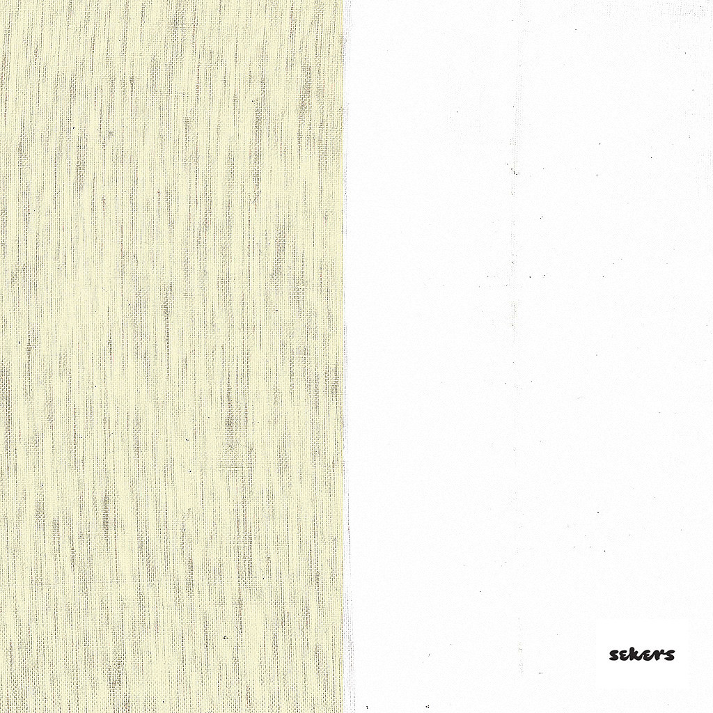 Sekers Zephyr 300cm - Husk  | Curtain Sheer Fabric - Gold, Yellow, Contemporary, Stripe, Wide-Width, Natural, Natural Fibre