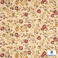 Sanderson Pear & Pomegranate DAPGPE204  | Upholstery Fabric - Brown, Farmhouse, Floral, Garden, Natural Fibre, Animals, Animals - Fauna, Commercial Use, Domestic Use, Birds