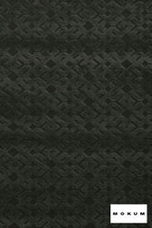 Mokum Trellis - Riverstone  | Upholstery Fabric - Fire Retardant, Asian, Black - Charcoal, Craftsman, Geometric, Natural Fibre, Velvet/Faux Velvet, Chinoise, Domestic Use