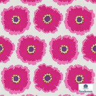 Sanderson Papavera 214747  | Wallpaper, Wallcovering - Fire Retardant, Pink, Purple, Floral, Garden, Botantical, Geometric