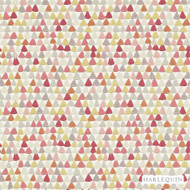 Harlequin Lulu 110674  | Wallpaper, Wallcovering - Red, Diaper, Foulard, Harlequin, Midcentury, Commercial Use, Triangles