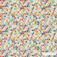 Harlequin Lulu 120268  | Upholstery Fabric - Brown, Diaper, Foulard, Harlequin, Midcentury, Natural Fibre, Commercial Use, Domestic Use, Natural, Standard Width, Triangles