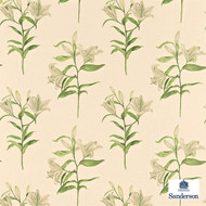 Sanderson Lucia DAPGLP201  | Upholstery Fabric - Beige, Floral, Garden, Natural Fibre, Commercial Use, Domestic Use, Natural, Print, Standard Width