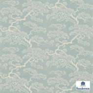 Sanderson Keros 213044  | Wallpaper, Wallcovering - Fire Retardant, Blue, Floral, Garden, Botantical, Asian, Chinoiserie, Chinoise