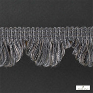 Zoffany Fan Edge 331514  | Fringe, Curtain & Upholstery Trim - Washable, Grey, Traditional, Trimmings, Fringe