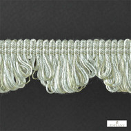 Zoffany Fan Edge 331519  | Fringe, Curtain & Upholstery Trim - Washable, Green, Traditional, Trimmings, Fringe