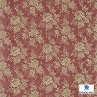 Sanderson Lyon 223972  | Upholstery Fabric - Red, Fibre Blends, Floral, Garden, Traditional, Commercial Use, Domestic Use, Standard Width