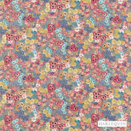 Harlequin Florica 120273  | Upholstery Fabric - Craftsman, Floral, Garden, Harlequin, Jacobean, Multi-Coloured, Natural Fibre, Pink, Purple, Traditional, Commercial Use