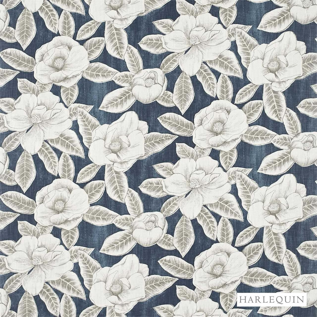Harlequin Floria 120242    Upholstery Fabric - Blue, Contemporary, Fibre Blends, Floral, Garden, Harlequin, Commercial Use, Domestic Use, Standard Width