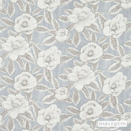 Harlequin Floria 120243    Upholstery Fabric - Grey, Contemporary, Fibre Blends, Floral, Garden, Harlequin, Commercial Use, Domestic Use, Standard Width