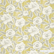 Harlequin Floria 120244    Upholstery Fabric - Gold,  Yellow, Contemporary, Fibre Blends, Floral, Garden, Harlequin, Commercial Use, Domestic Use, Standard Width