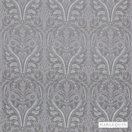 Harlequin Florence 131548  | Upholstery Fabric - Grey, Traditional, Transitional, Craftsman, Damask, Rococo, Fibre Blend, Standard Width