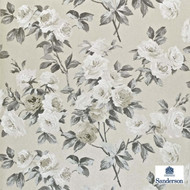 Sanderson Eglantine DVIWEG105  | Wallpaper, Wallcovering - Fire Retardant, Blue, Brown, Grey, Floral, Garden, Botantical, Farmhouse