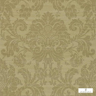Zoffany Crivelli ZCDW02005  | Wallpaper, Wallcovering - Fire Retardant, Gold, Yellow, Green, Traditional, Damask